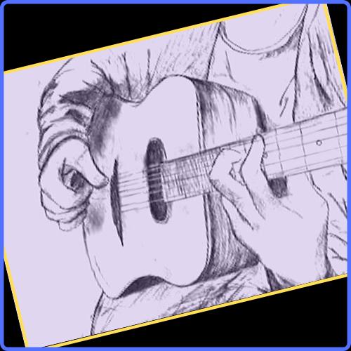 dibujos a lapiz guitarra
