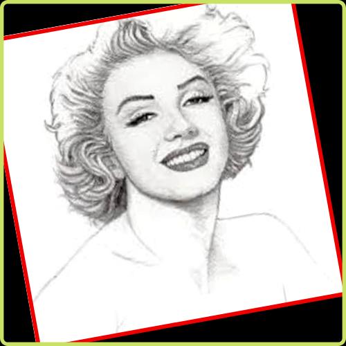 dibujos a lapiz marilyn