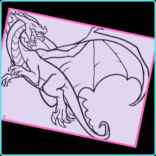 dibujos a lapiz dragon